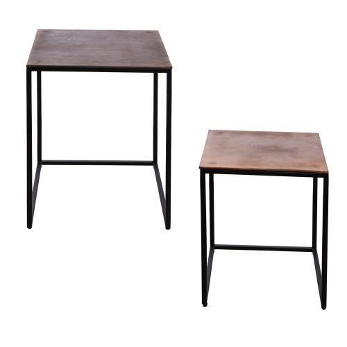 Set de 2 tables cigogne 47 et 40 cm - Table Passion Noir