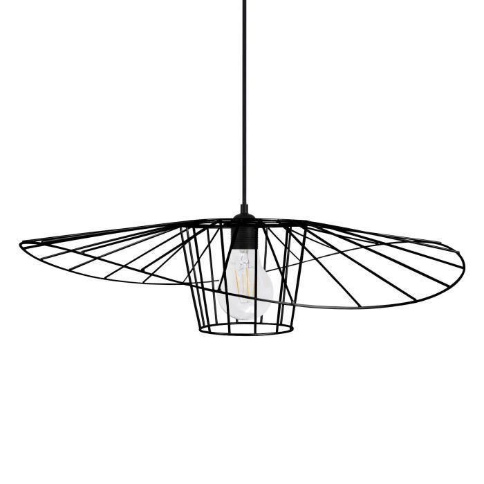 LADY BIRD Suspension filaire - Ø60 x H70 cm - Noir