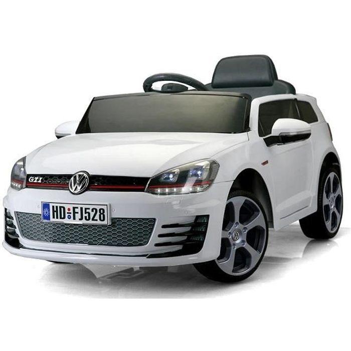 Volkswagen Golf GTI 12v Voiture Électrique Enfant Véhicule Bébé Jouet Fille Garçon 12 volts Blanc