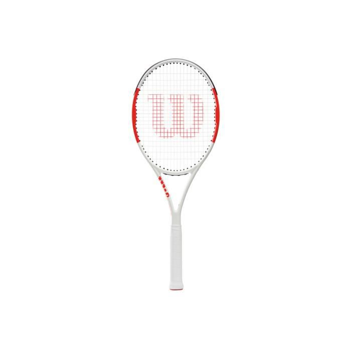 Raquette Wilson Six One 95 - blanc/rouge - 4