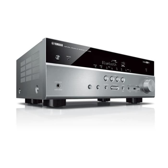 YAMAHA RX-V485 Silver - Ampli-tuner Home-Cinéma 5.1 - 5 x 80 W - Wi-Fi - Airplay2 - Bluetooth - 4 X HDMI - YPAO
