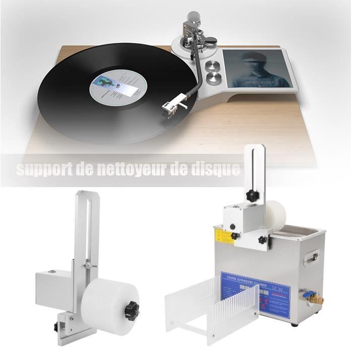 Support de nettoyage de disque, support de nettoyeur de disque vinyle à ultrasons pouvant HB017