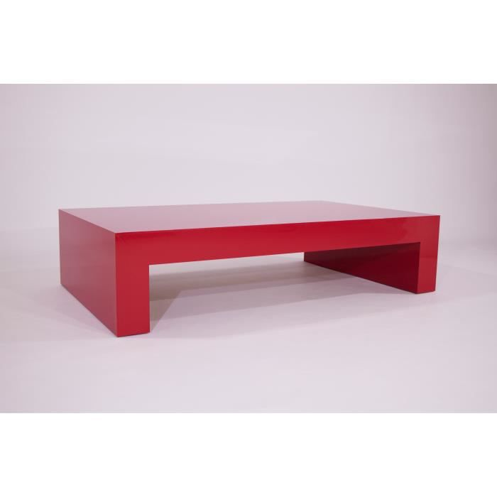 Table basse rouge brillant mod first h21 achat vente - Table basse rouge laque ...