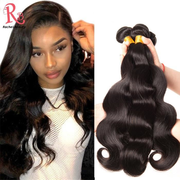 PERRUQUE - POSTICHE 3 Tissage Bresilienne Ondule Virgin Hair Perruque