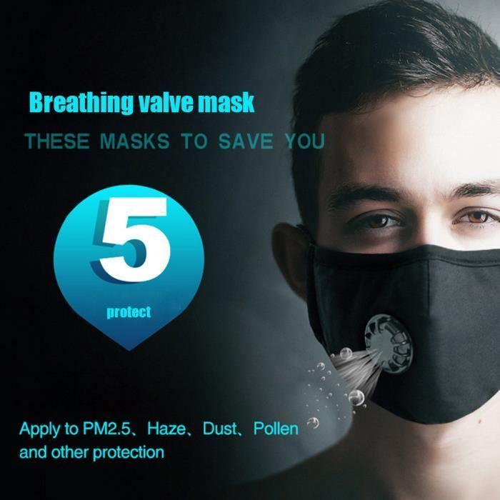masque anti poussiere lavable