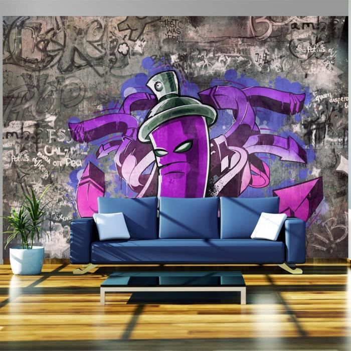 papier peint intiss graffiti 300x210 cm 6 l s achat vente papier peint papier peint. Black Bedroom Furniture Sets. Home Design Ideas