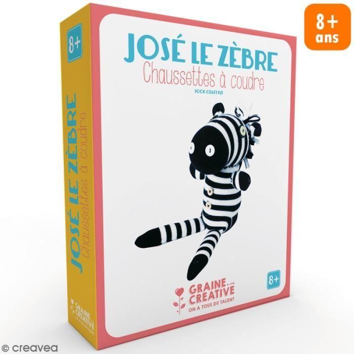 KIT DE COUTURE Kit couture enfant - Peluche chaussette Zèbre