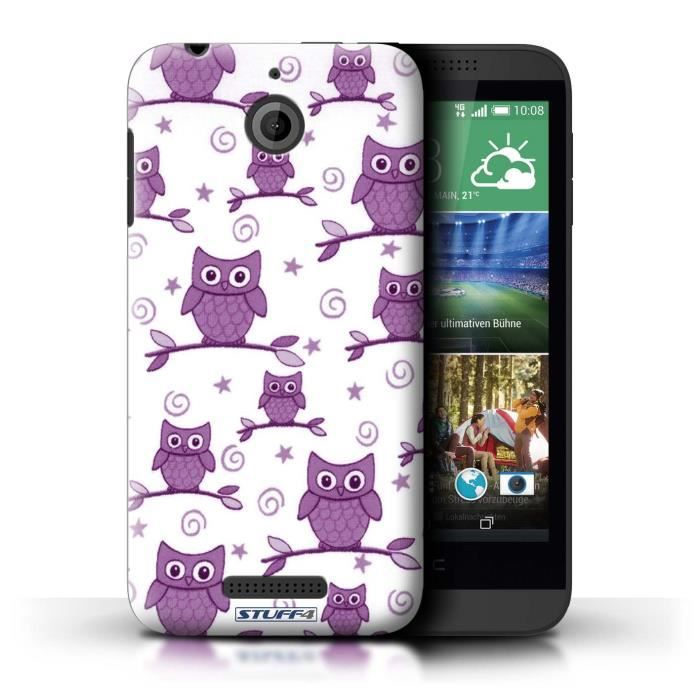 coque de stuff4 coque pour htc desire 510 violet blanc. Black Bedroom Furniture Sets. Home Design Ideas