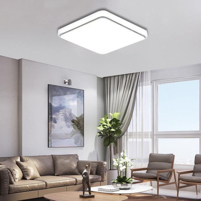 LED Plafonnier Moderne Blanc Super Lumineux Carré Lampe pour ...