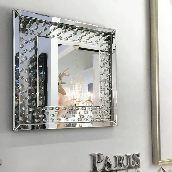 miroir strass el gance achat vente miroir cdiscount. Black Bedroom Furniture Sets. Home Design Ideas