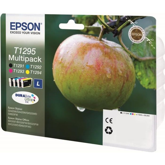 epson t1295 pomme cartouches d 39 encre multipack couleurs. Black Bedroom Furniture Sets. Home Design Ideas