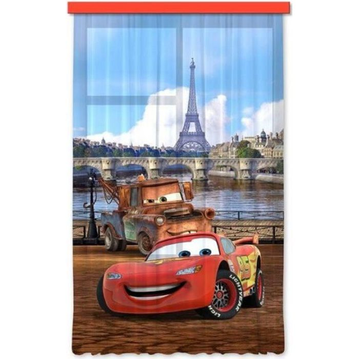disney cars set 1 rideau pour chambre d 39 enfant porte fran aise achat vente rideau de. Black Bedroom Furniture Sets. Home Design Ideas