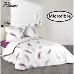 housse de couette 220x240 cm microfibre plume 2 to 100 polyester achat vente housse de. Black Bedroom Furniture Sets. Home Design Ideas