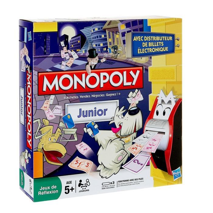 monopoly junior electronique achat vente jeu soci t plateau cdiscount. Black Bedroom Furniture Sets. Home Design Ideas