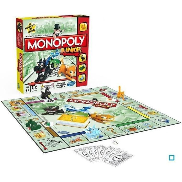 monopoly junior achat vente jeu soci t plateau cdiscount. Black Bedroom Furniture Sets. Home Design Ideas