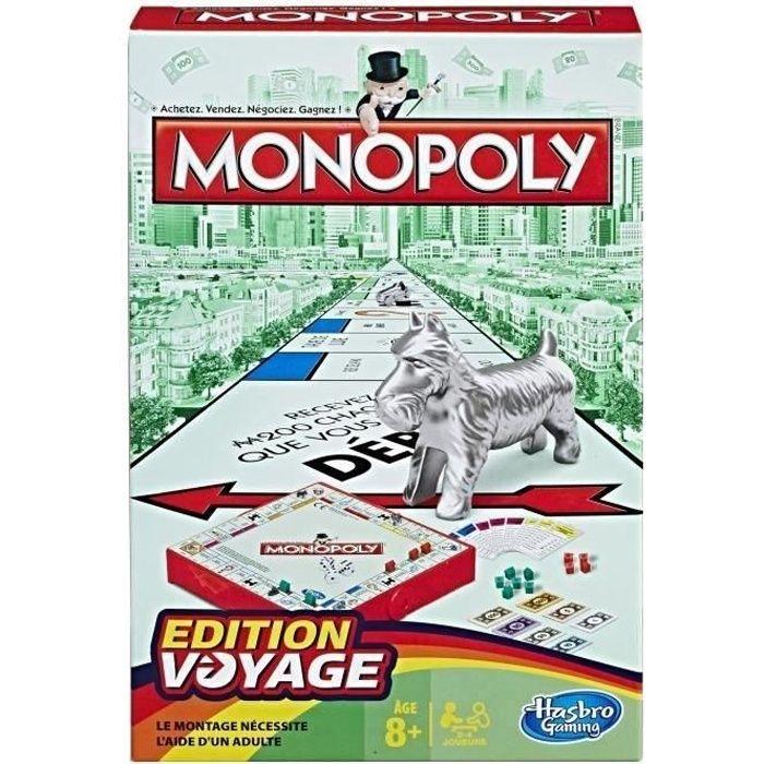 JEU SOCIÉTÉ - PLATEAU Monopoly - Jeu de société de Voyage - Version fran