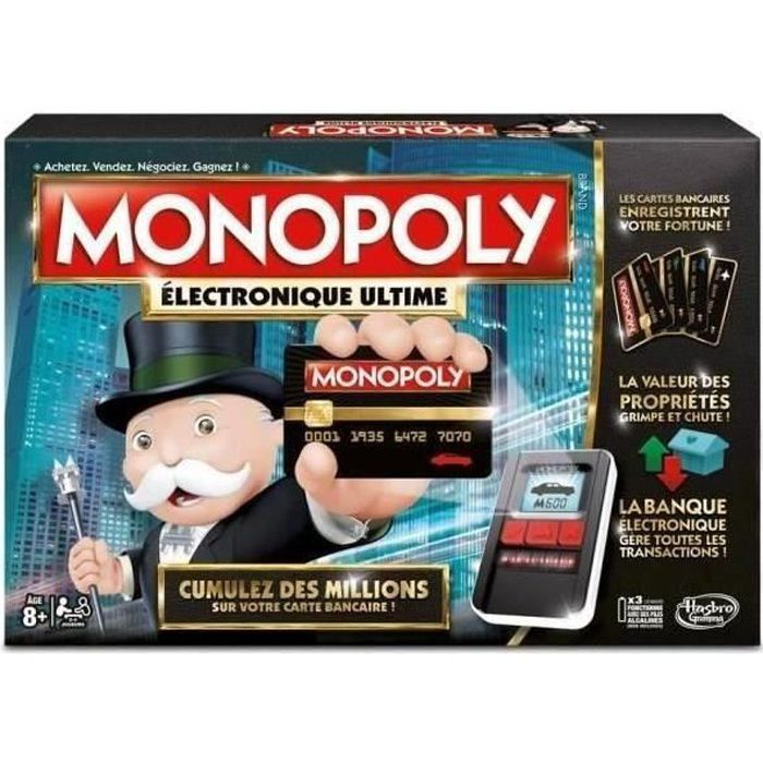 monopoly ultimate banking achat vente jeu soci t plateau cdiscount. Black Bedroom Furniture Sets. Home Design Ideas