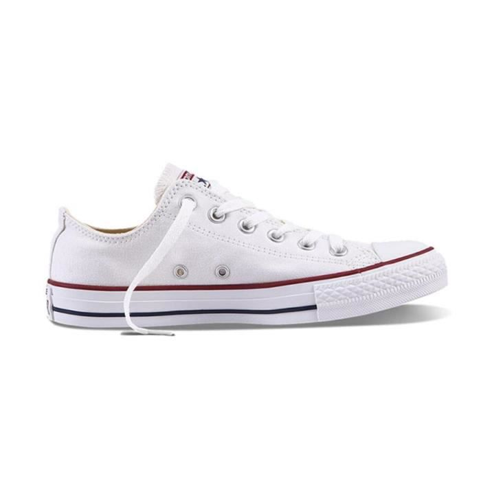 Converse Chuck Taylor All Star Core Lea Ox, Baskets mode mixte adulte, Bianco (Blanc), 44