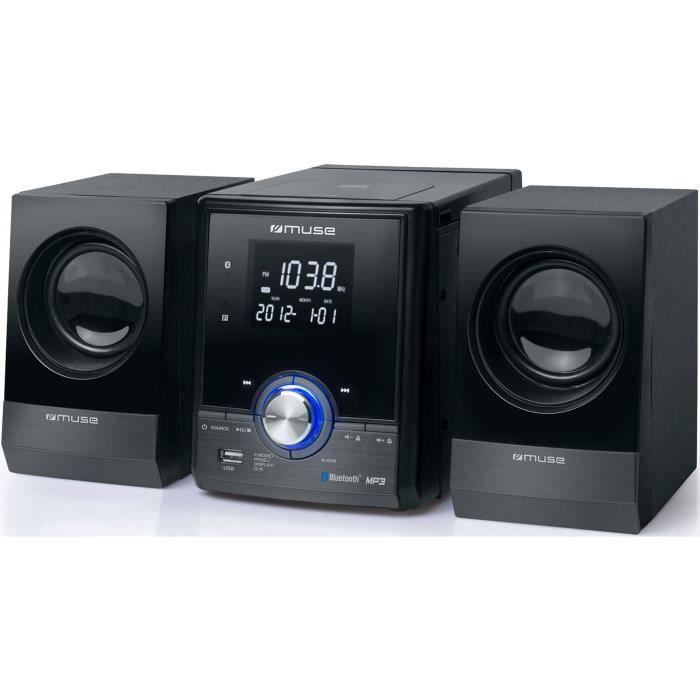 CHAINE HI-FI MUSE M38BT Chaîne Hi-Fi - Lecteur CD / MP3 - Bluet