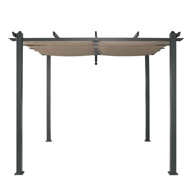 tokyo pergola en aluminium 3x3 m avec toile en polyester amovible achat vente pergola. Black Bedroom Furniture Sets. Home Design Ideas