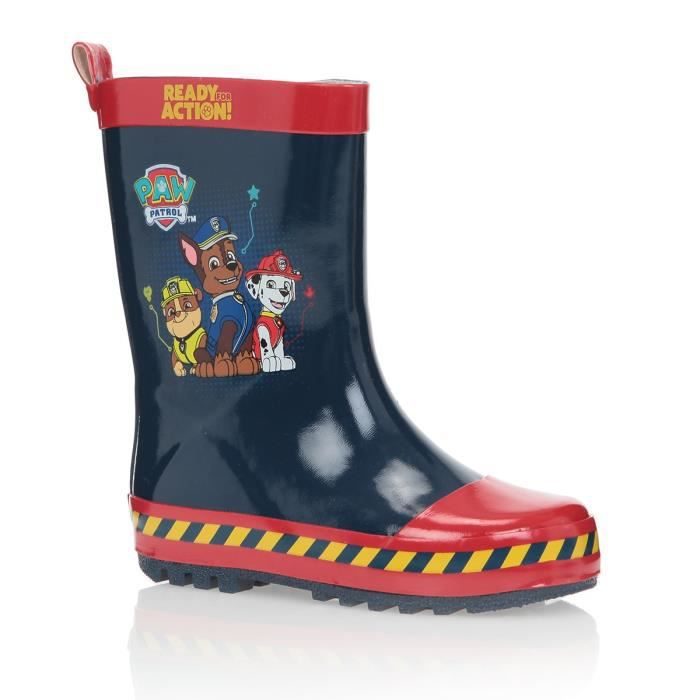 paw patrol bottes de pluie chaussures enfant gar on bleu et rouge achat vente botte cdiscount. Black Bedroom Furniture Sets. Home Design Ideas