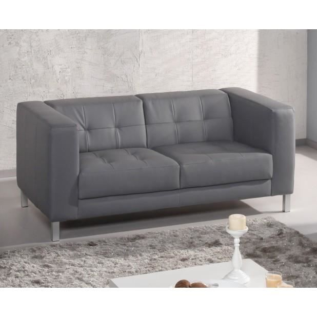 canap capy 2 3 places couleur gris achat vente canap sofa divan cdiscount. Black Bedroom Furniture Sets. Home Design Ideas