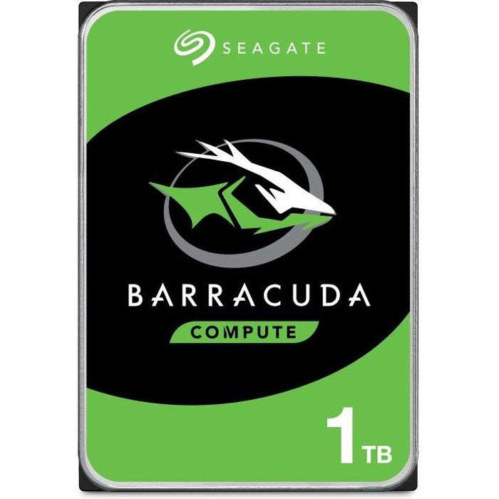 "DISQUE DUR INTERNE Seagate HDD BarraCuda 1To 3,5""  ST1000DM010"