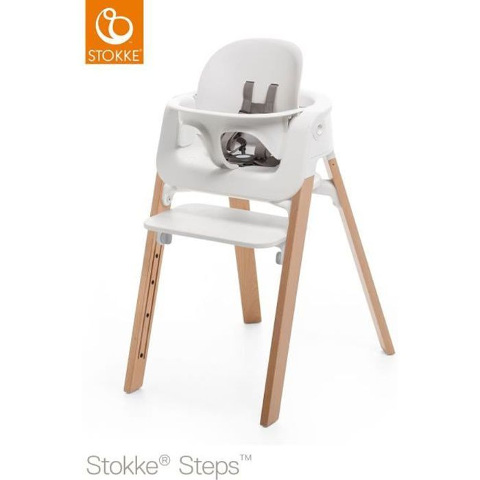 stokke steps baby set blanc achat vente chaise haute. Black Bedroom Furniture Sets. Home Design Ideas