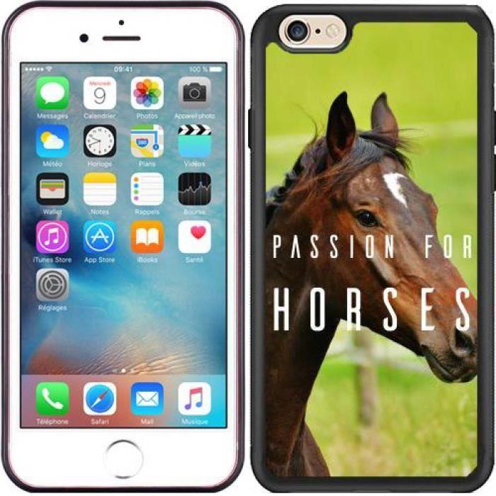 Coque Silicone pour Iphone 6-6S - Cheval - Passion