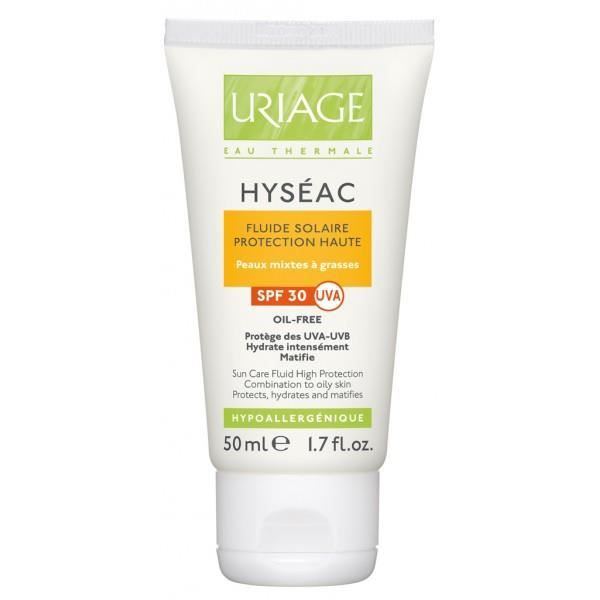 uriage hyseac fluide solaire spf 30 50 ml achat vente solaire corps visage uriage hyseac. Black Bedroom Furniture Sets. Home Design Ideas