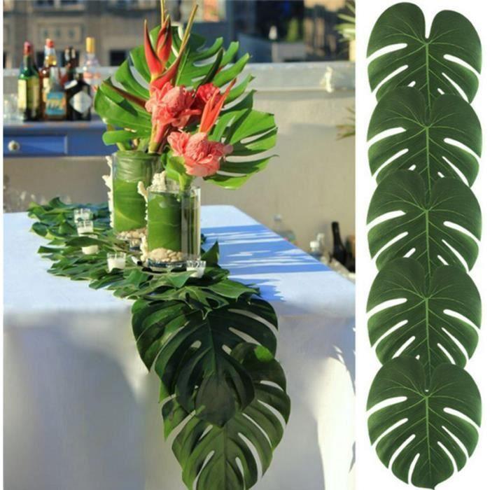 Feuille D/'or Organza Table Runner 28 cm x 5 m Tropical Mariage Fête