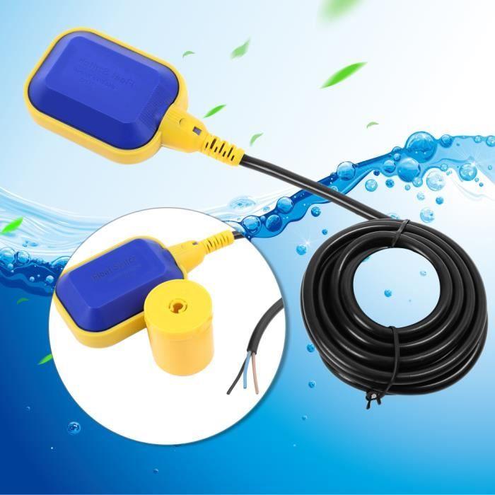 Interrupteur /à Flotteur de Niveau dEau Contr/ôle Automatique avec C/âble de 10m pour Pompe Submersible Interrupteur /à Flotteur