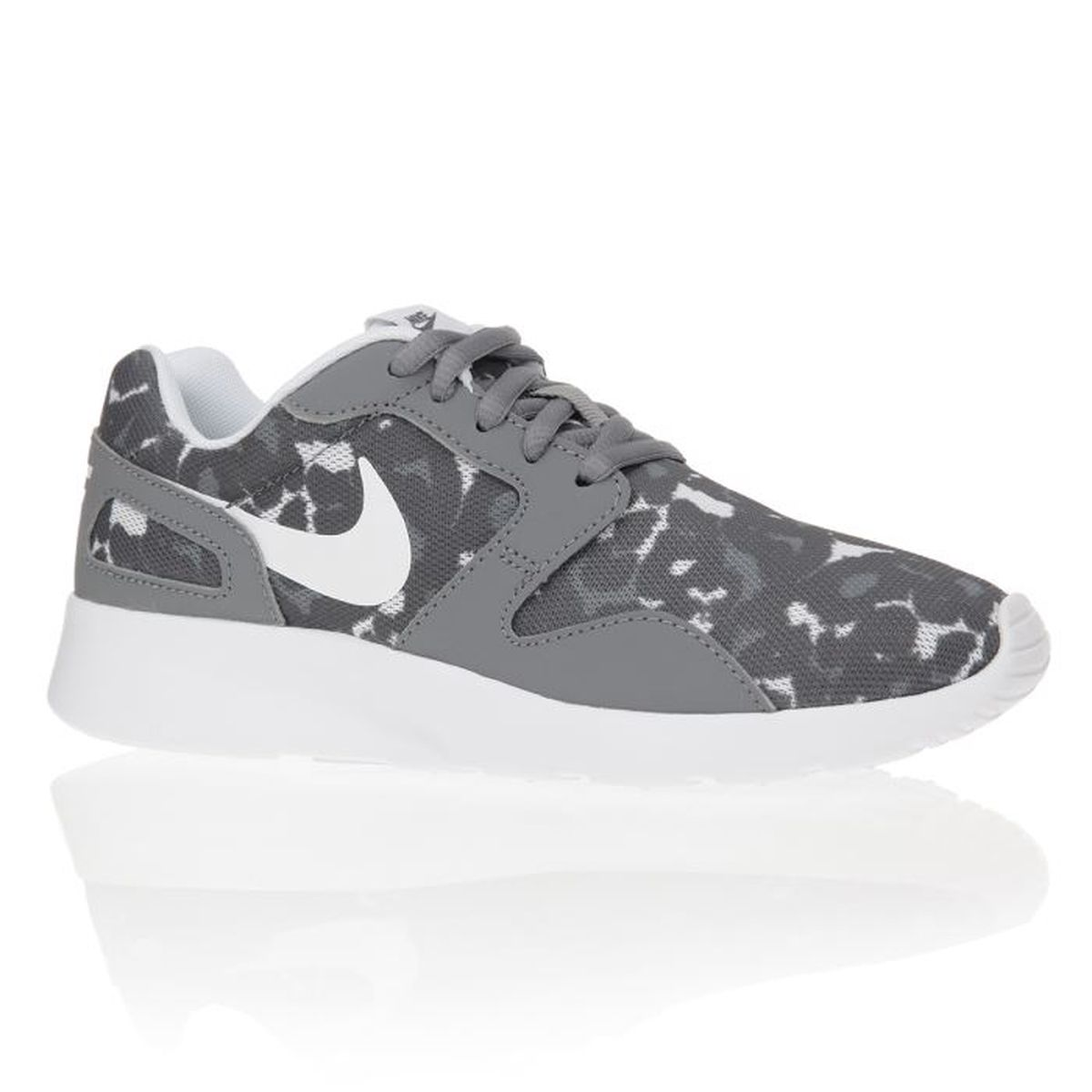 nike baskets kaishi print chaussures femme femme gris et blanc achat vente nike baskets. Black Bedroom Furniture Sets. Home Design Ideas