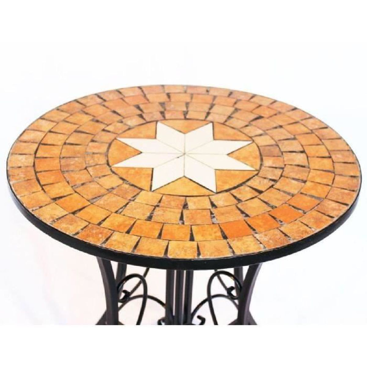 Dandibo table mosa que merano 12001 table de jardin d 60cm for Peinture table de jardin metal
