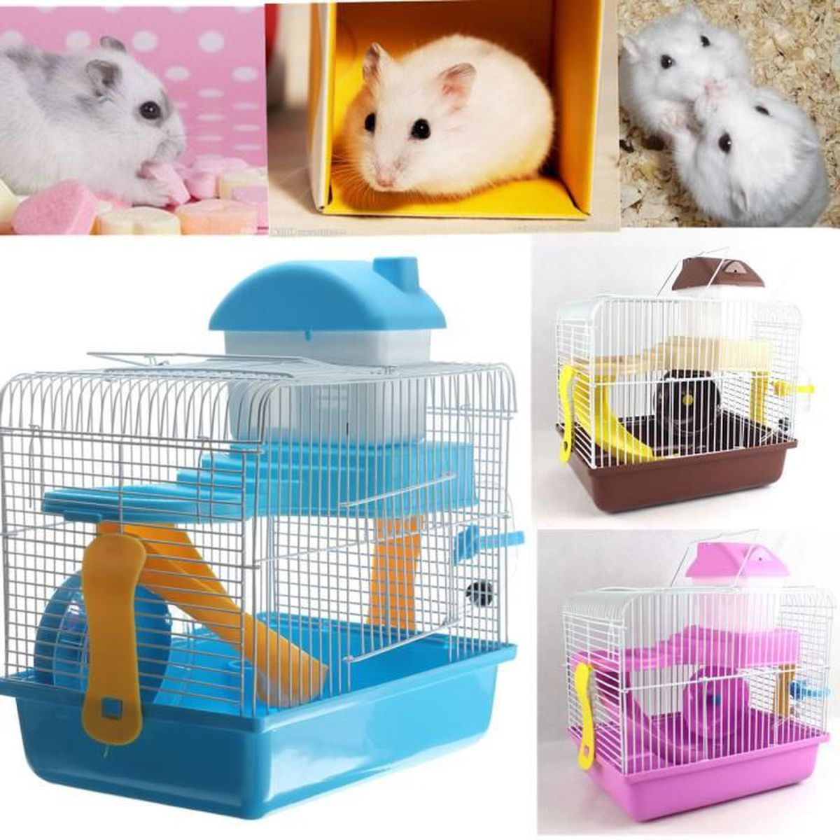 d4a0ceff5347d5 NEW Cage Hamster Rongeur Souris Gerbille Ratatouille Petit Animal ...