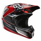 CASQUE FOX Casque Cross V3 Steel Faith Argent/Rouge