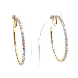 Femmes 18K Or Plaqué Bijoux Forme Carrée Cristal Boucle Cerceau CALIN Boucles d/'oreilles