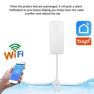WiFi Alarme de Fuite deau sans Fil/,Alerte Alerte de Niveau deau de d/ébordement,Tuya Smart Life App,T/él/écommande Compatible avec Alexa Google OWSOO Capteur de Fuite deau