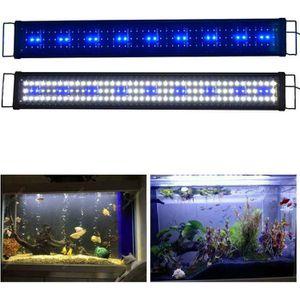 ÉCLAIRAGE 90cm - 120cm Rampe Aquarium LED Bleu Blanc Lumière