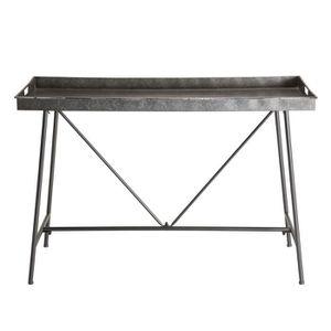 CONSOLE Console plateau Zinc pieds métal