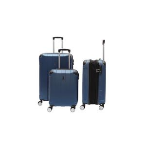 SET DE VALISES LYS - Set de 3 Valises Marine Rigide ABS 4 Roues d