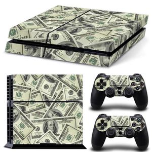 STICKER - SKIN CONSOLE Sticker pour ps4 + stickers 2 manettes Dollars