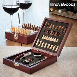 COFFRET SOMMELIER Coffret Accessoire Vin en Bois avec Jeu d'échecs :