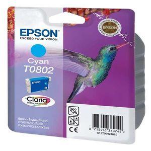 CARTOUCHE IMPRIMANTE Epson T0802 Colibri Cartouche d'encre Cyan