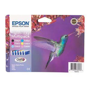 CARTOUCHE IMPRIMANTE Epson T0807 Colibri Cartouches d'encre Multipack C
