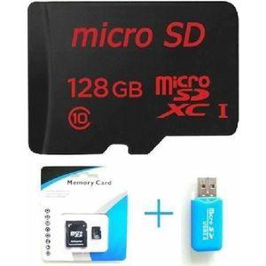 CARTE MÉMOIRE carte mémoire 128 Go Micro SD classe 128Go 10 + SD