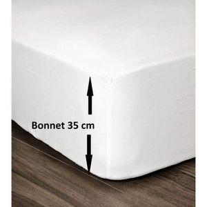 DRAP HOUSSE LOVELY HOME Drap Housse 100% Coton 140x190cm - Bon