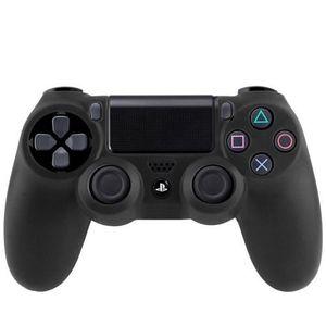 HOUSSE DE TRANSPORT Étui noir en silicone pour manette de jeux Sony PS
