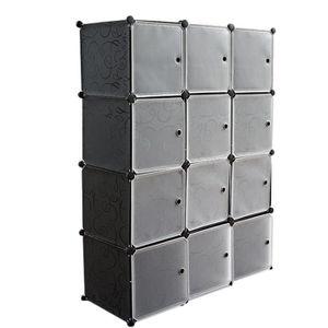 ARMOIRE DE CHAMBRE 12-Cube Armoire de Chambre avec porte Meuble de Ra