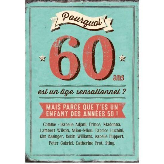 Carte Xl D Anniversaire 60 Ans Cadeau Maestro Achat Vente Carte Correspondance Carte Xl D Anniversaire 60 Cdiscount